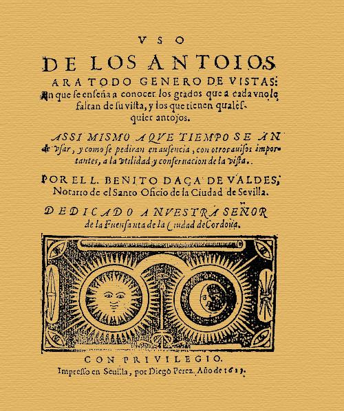 Uso de los anteojos 1623
