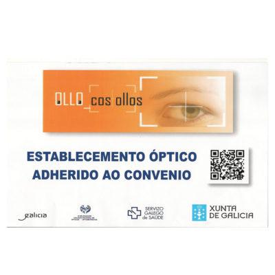 Establecimiento óptico adherido al convenio con el SERGAS